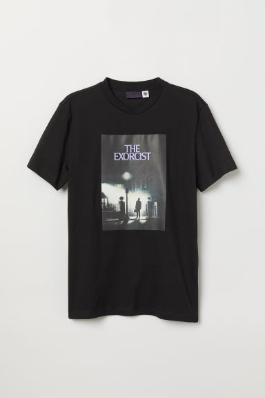 Printed T-shirt - Black/The Exorcist - Men | H&M