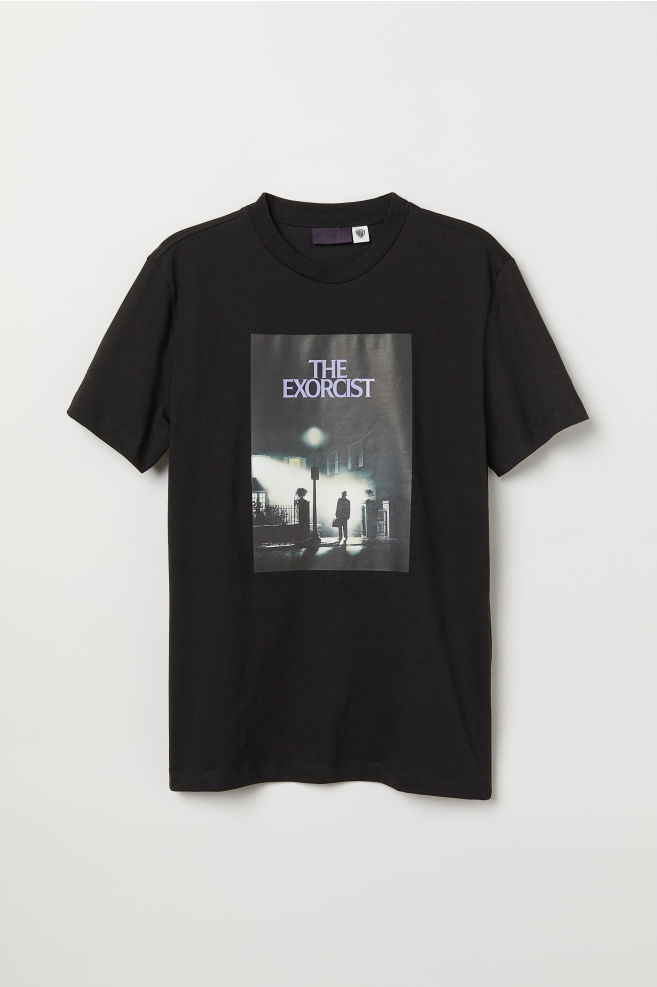 0881c2ce T-shirt with Printed Design - Black/The Exorcist - Men | H&M US