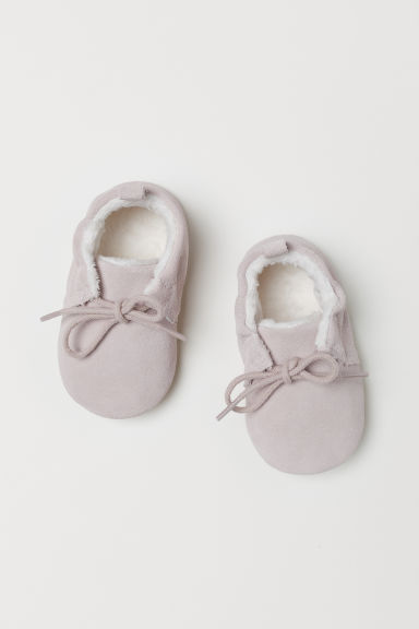 Suede slippers - Powder pink - Kids | H&M