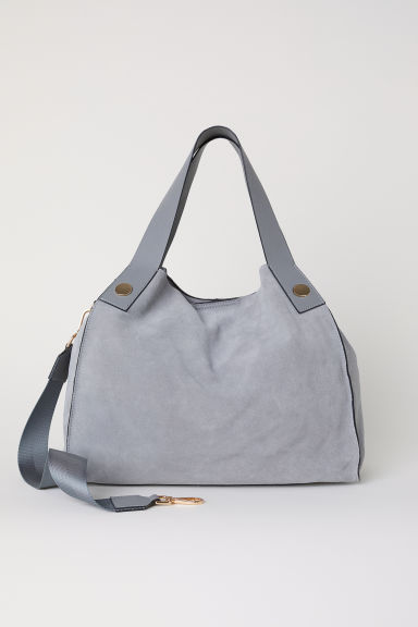 Suede shopper - Grey -  | H&M