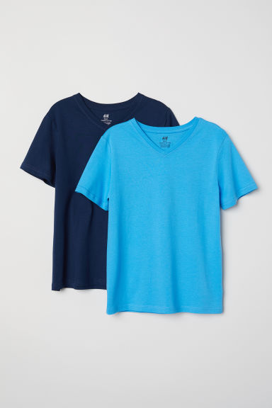 2-pack T-shirts - Dark blue/Blue - Kids | H&M CN