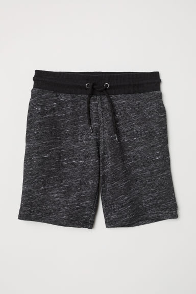 Shorts in felpa - Nero mélange -  | H&M IT