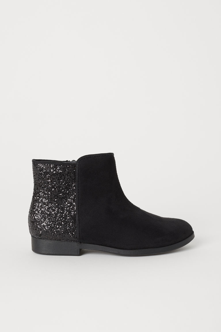 Ankle boots - Black/Glittery - Kids | H&M CN