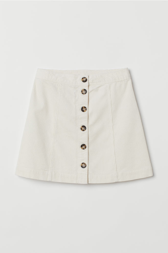 7347f925ead6 ... A-line Skirt - Natural white corduroy - Ladies