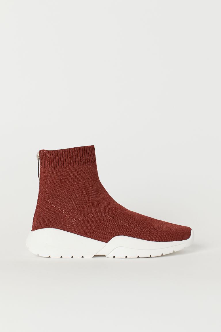 Fully-fashioned trainers - Rust red - Ladies | H&M