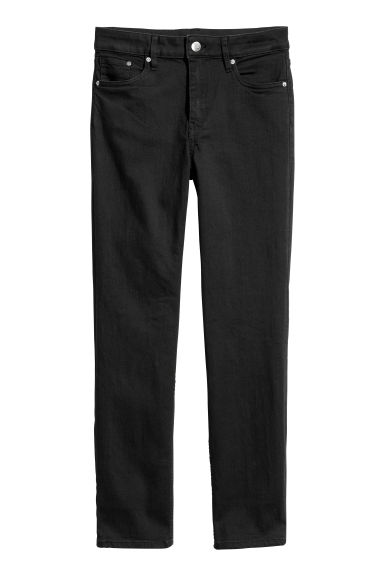 Ankle-length stretch trousers - Black -  | H&M