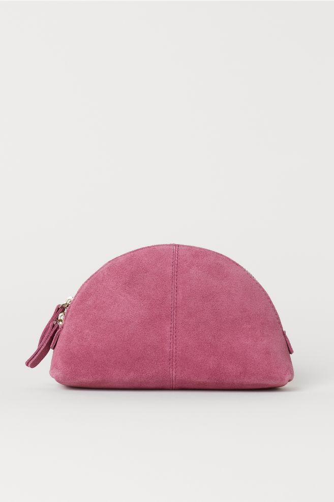 Suede Makeup Bag - Dark pink - Ladies  16df0ec2dd547