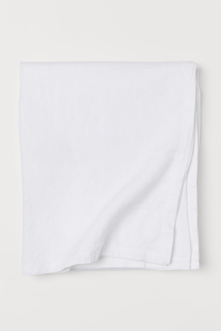 Washed linen tablecloth - White - Home All | H&M IE