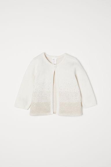 Glittery cardigan - Natural white - Kids | H&M CN