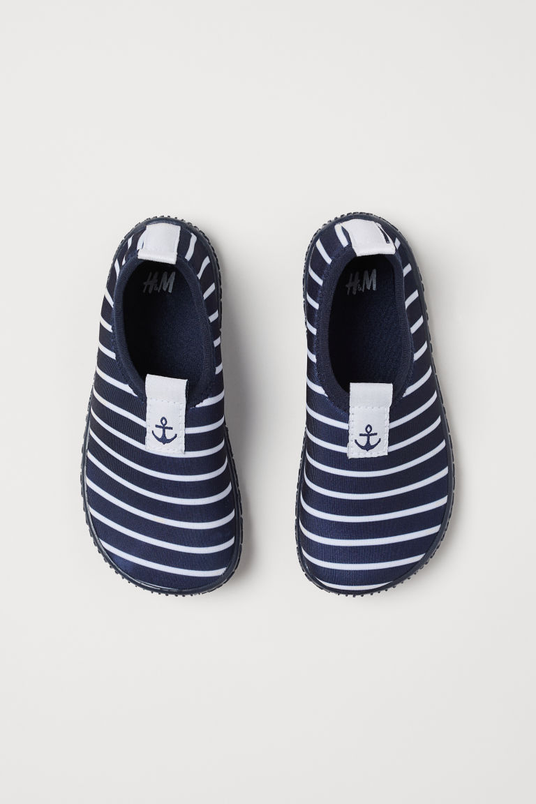 Scuba aqua shoes - Dark blue/Striped - Kids | H&M