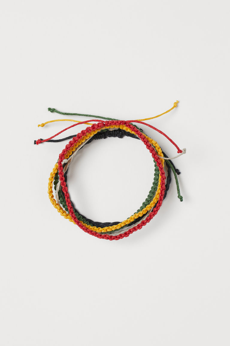 5-pack de pulseras - Rojo/Multicolor - Men | H&M MX