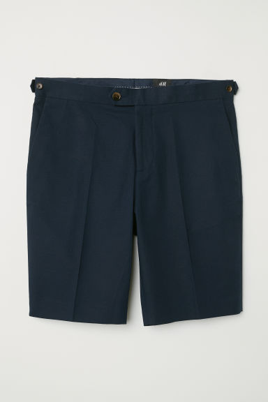 Short van keper - Slim fit - Donkerblauw - HEREN | H&M BE