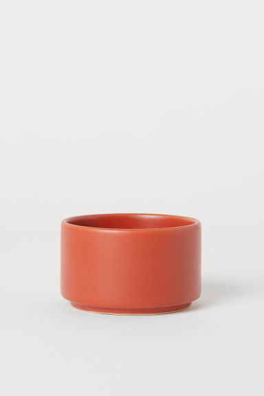 Small stoneware bowl - Dark orange - Home All | H&M CN