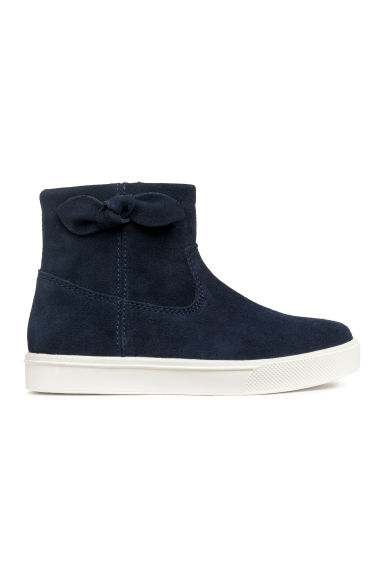 Suede hi-tops - Dark blue -  | H&M CN