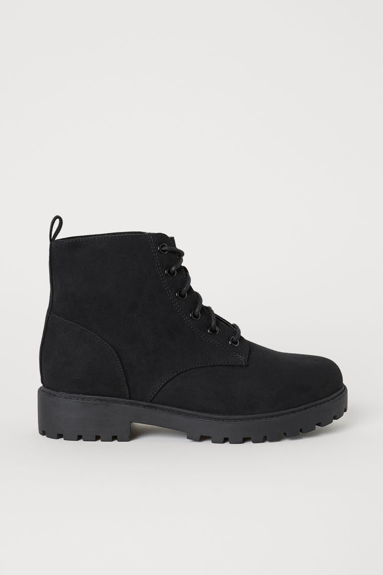 Pile-lined boots - Black -  | H&M CN