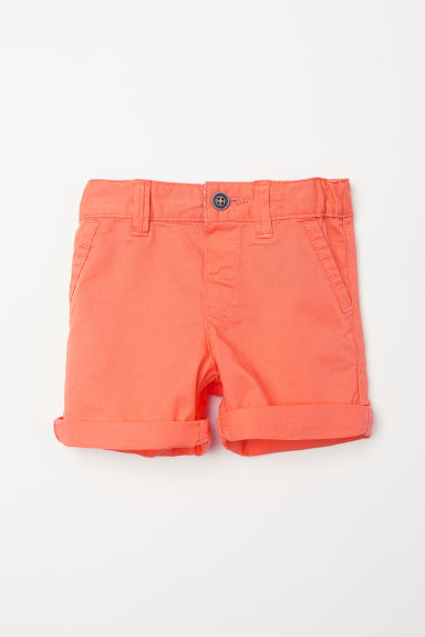 Cotton shorts - Orange -  | H&M