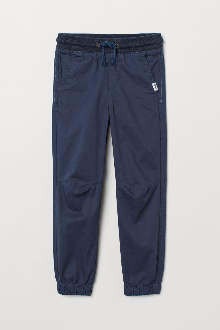 Cotton Pull-on Pants - Dark blue - Kids | H&M CA