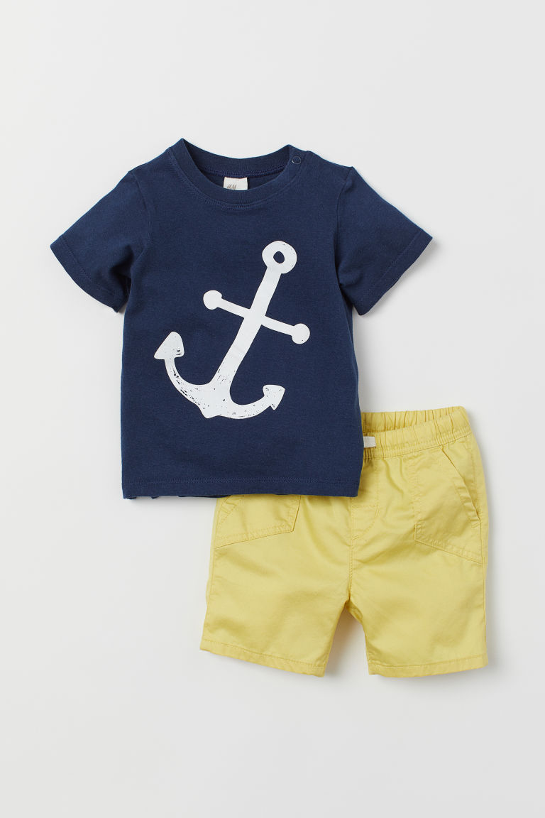 T-shirt e shorts - Blu scuro/ancore - BAMBINO | H&M IT
