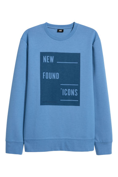 Printed sweatshirt - Blue - Men | H&M CN