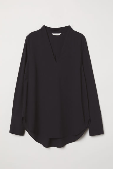 V-neck Blouse - Black - Ladies | H&M US