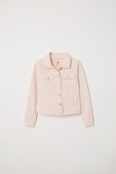 Cotton twill jacket - Light pink - Kids | H&M
