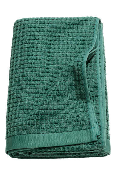 Check-weave bath towel - Dark green - Home All | H&M IE