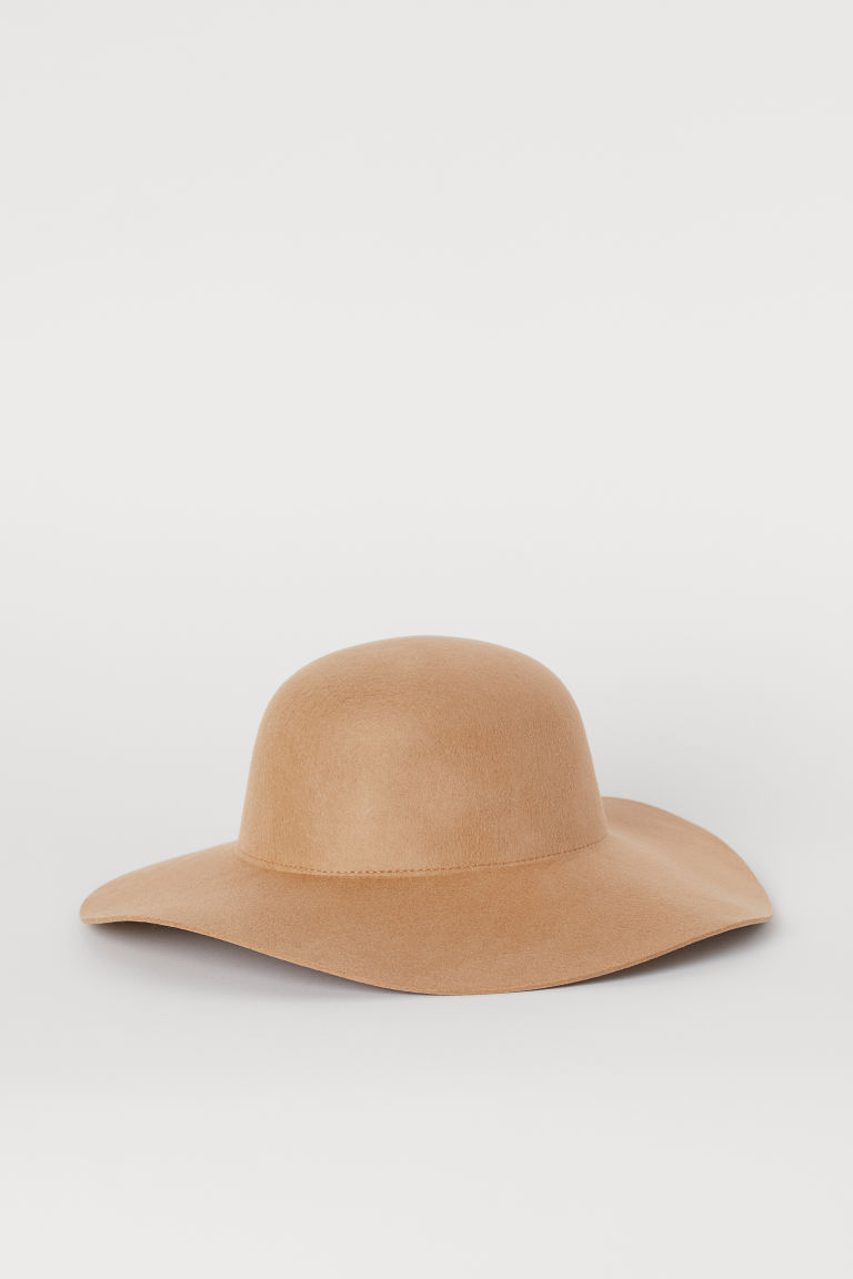 Felted wool hat - Camel -  | H&M