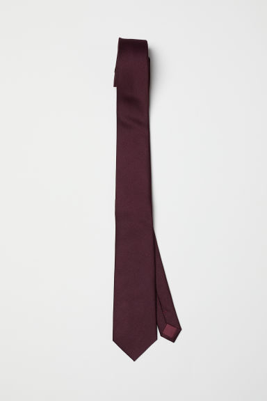 Satin Tie - Burgundy - Men | H&M US