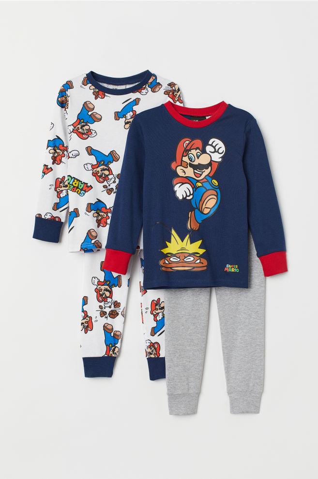 59aa7d03e21e4 Pyjamas, lot de 2 - Blanc/Super Mario - ENFANT | H&M ...