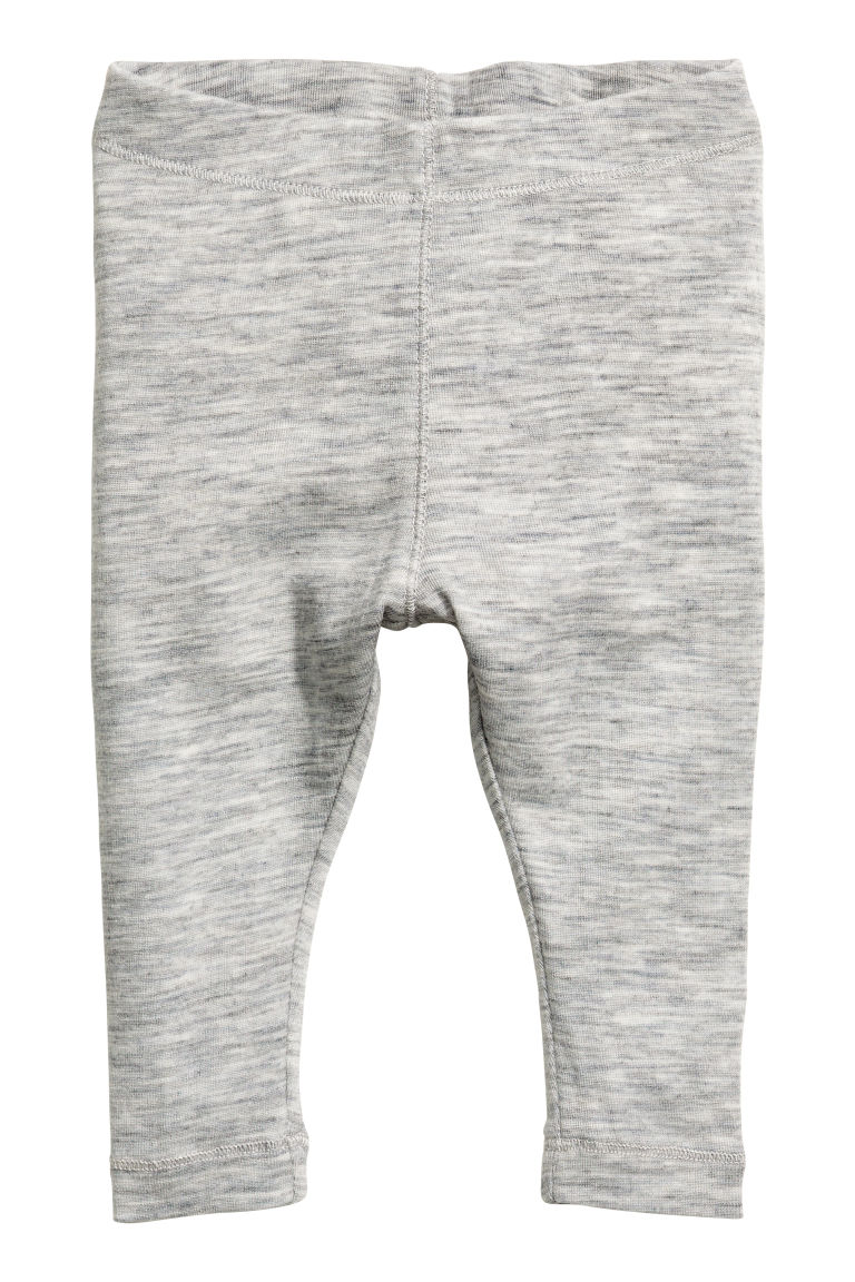 Wool leggings - Light grey - Kids | H&M CN