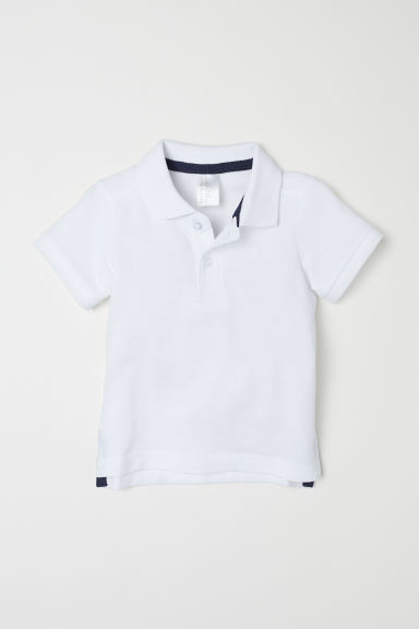 Polo shirt - White - Kids | H&M CN
