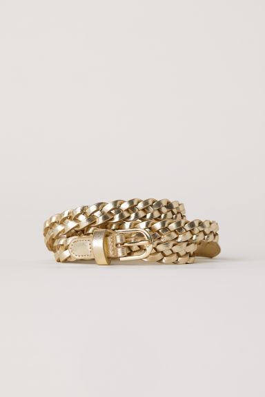 Braided belt - Gold-coloured - Ladies | H&M GB