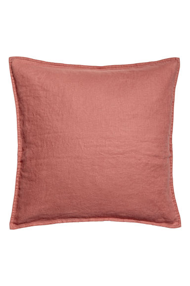 Washed linen cushion cover - Rust - Home All | H&M CN