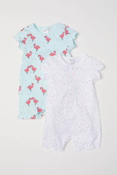 2-pack pyjamas - Light turquoise/Flamingos -  | H&M