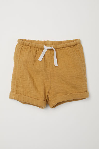Cotton shorts - Mustard yellow - Kids | H&M CN