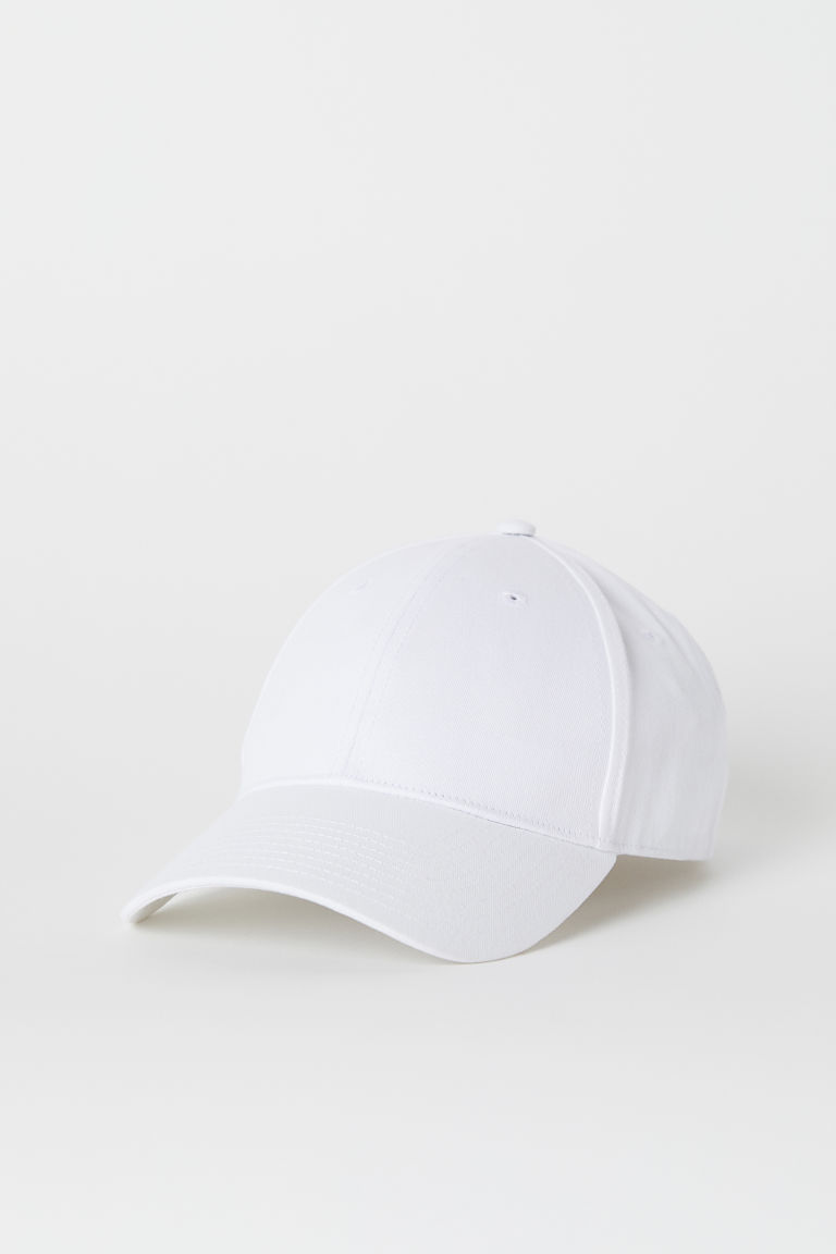 Cotton twill cap - White -  | H&M