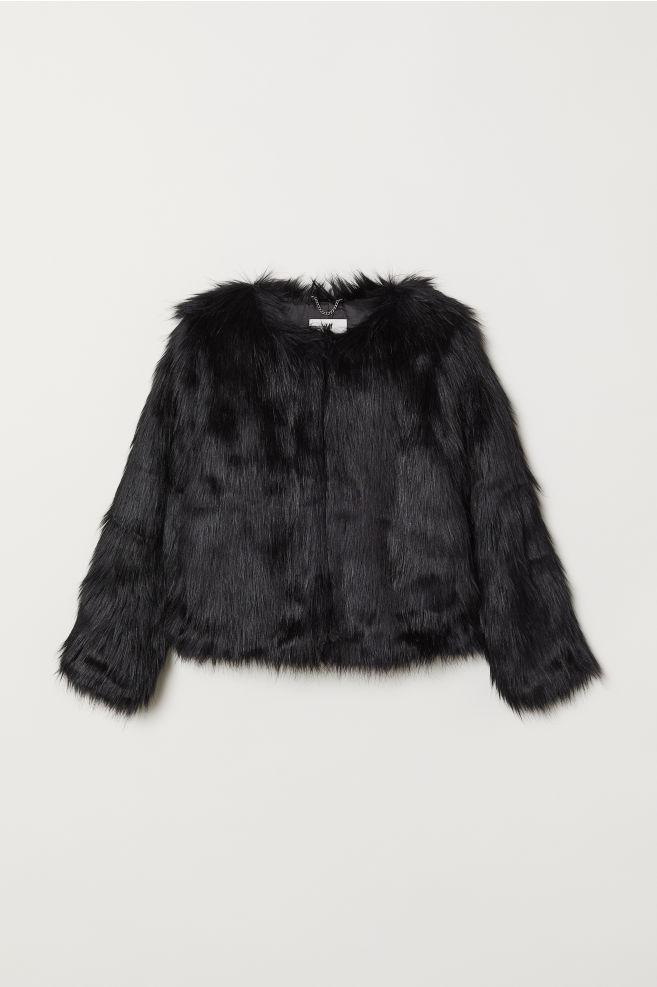 b74aa57c2113 Faux fur jacket - Black - Kids