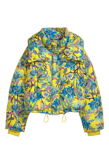 Padded jacket - Neon yellow/Patterned - Ladies | H&M GB