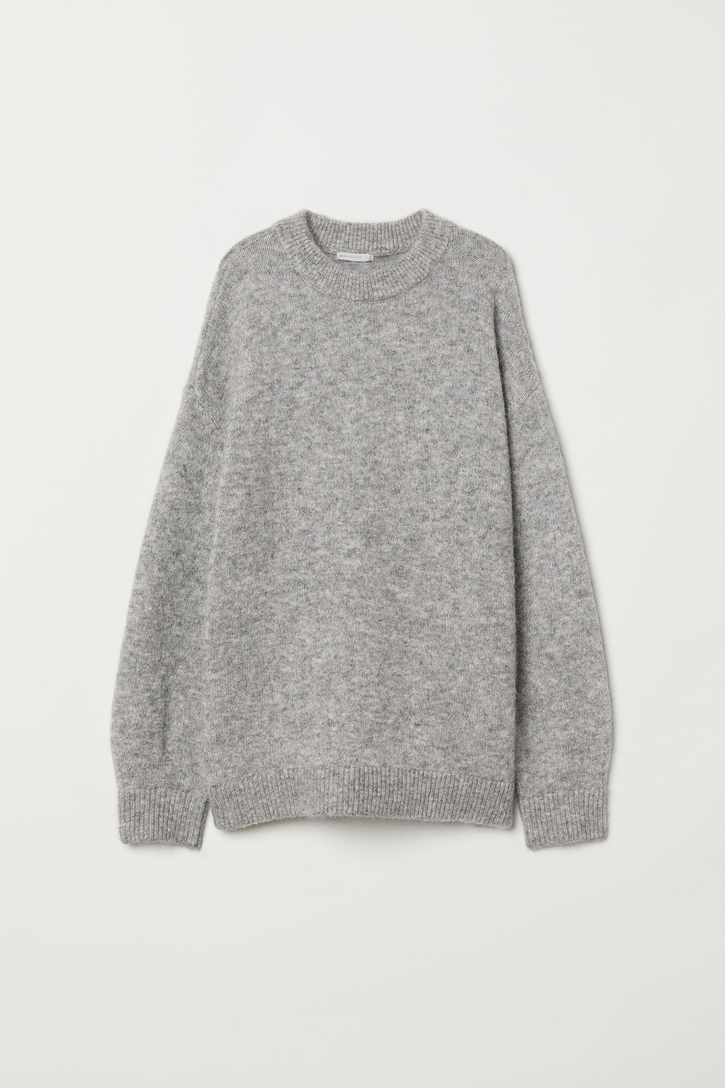 a82b7916bdf Fine-knit Mohair-blend Sweater - Black - Ladies