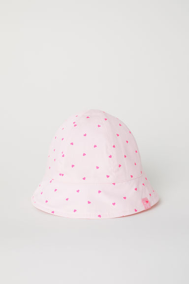 Patterned sun hat - Pink/Hearts - Kids | H&M CN