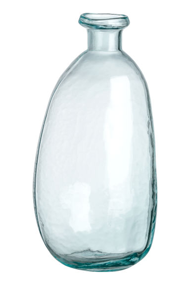 Asymmetrical Glass Vase - Clear glass -  | H&M CA