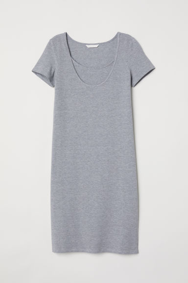 MAMA Nursing dress - Grey marl - Ladies | H&M CN