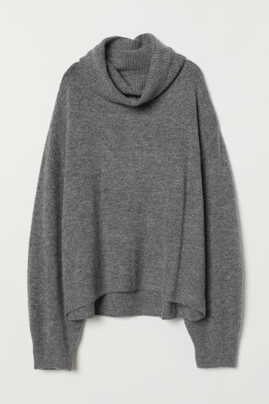 Rollkragenpullover - Graumeliert - Ladies | H&M AT