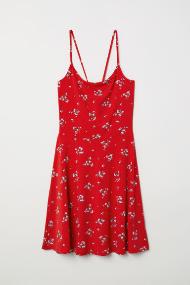 Patterned dress - Red/Floral - Ladies | H&M