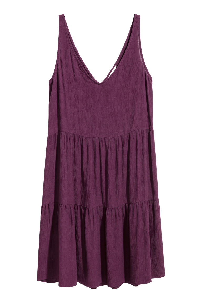 Crêpe dress - Dark purple - Ladies | H&M