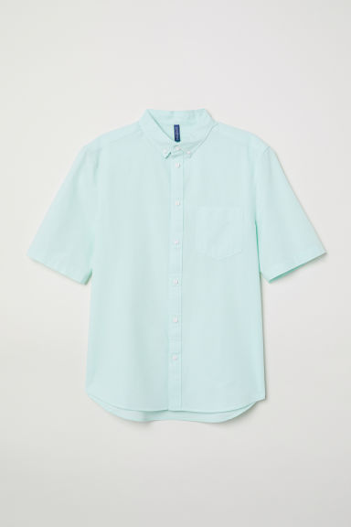 Cotton shirt Regular fit - Light turquoise -  | H&M