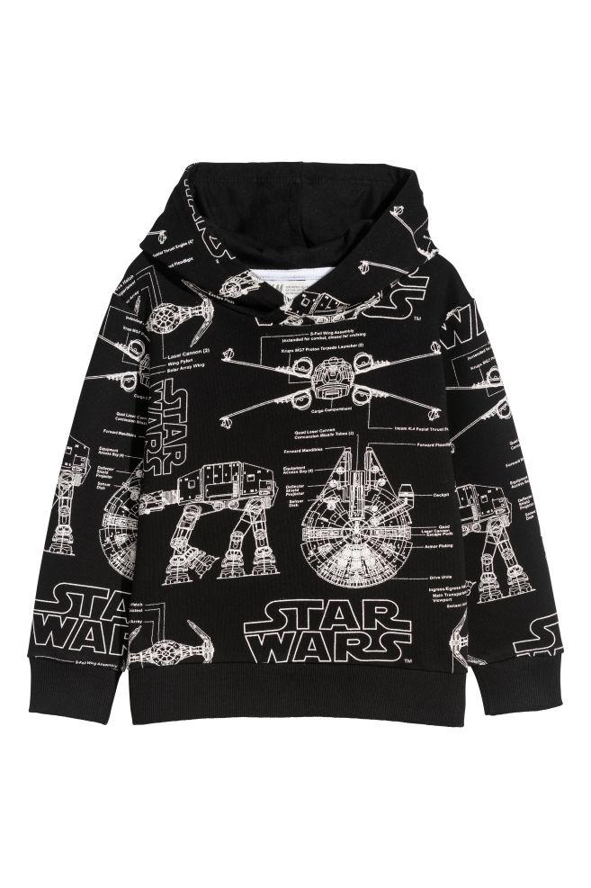 Printed Hooded Top Blackstar Wars Kids Hm Gb