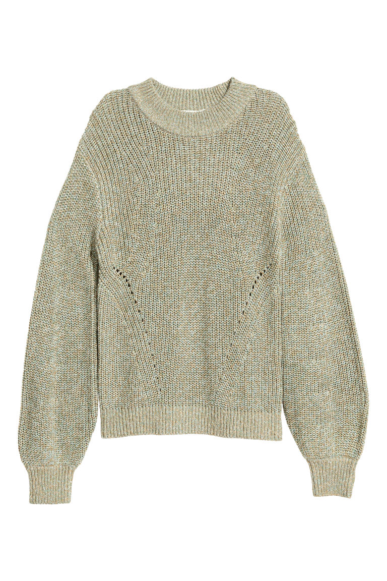 Knitted jumper - Green marl - Ladies | H&M CN