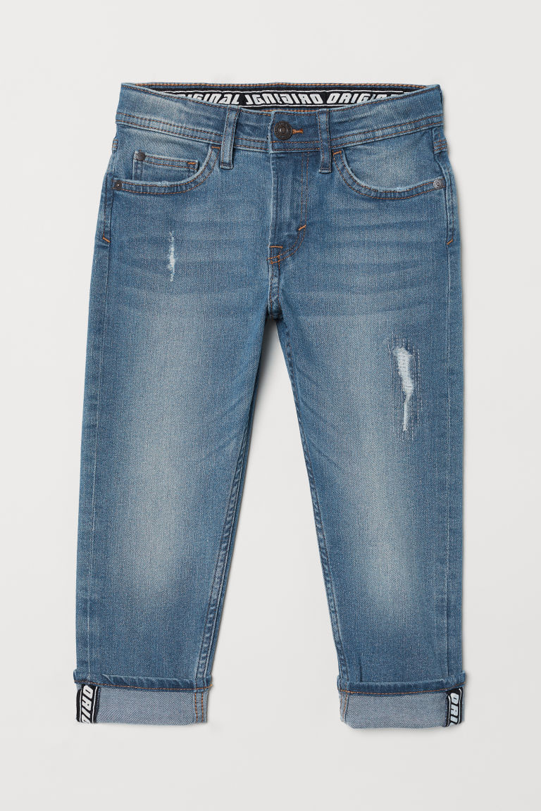 Relaxed Tapered Fit Jeans - Denim blue -  | H&M CN