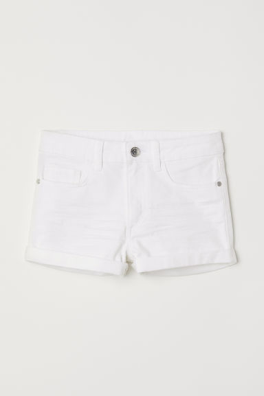 Twill shorts - White - Kids | H&M